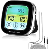SMARTRO ST59 Digital Meat Thermometer for Oven Kitchen Grill Food Smoker Cooking with 2 Probes and Timer