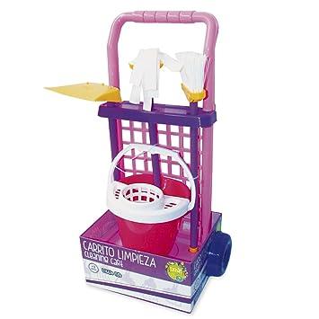 Tachan Carrito Limpieza Cubo, Color Rosa (CPA Toy Group 12A): Amazon.es: Juguetes y juegos