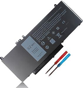 62Wh Type 6MT4T 7.6V Battery for Dell Latitude E5470 E5570 Precision 3510 Series 7V69Y 07V69Y 0TXF9M TXF9M 0HK6DV HK6DV 79VRK K3JK9 P62G P62G001 451-BBUP 4-Cell