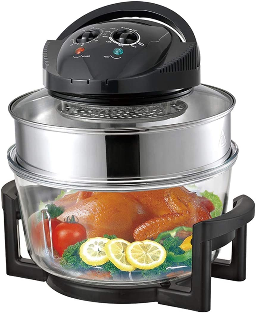 17L Halogen Oven Cooker, 1300W Removeable Multi-function Tower Low Fat Air Fryer, Low Fat Oil Free fryerfor Healthy Oil Free or Low Fat Cooking