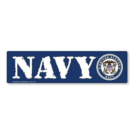 Navy bumper strip magnet