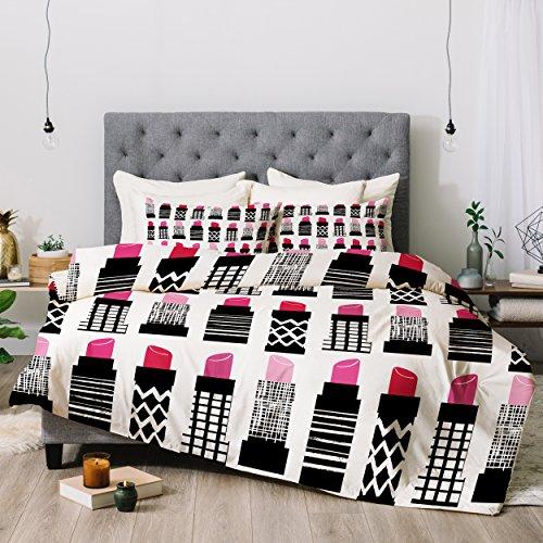 Deny Designs Zoe Wodarz Lipstick City Comforter Set, Queen (Zoe Comforter Set)