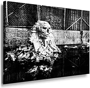Banksy Graffiti Street Art 1257. Size 100x70x2cm(l/h/w). Canvas On Wooden Frame. Made In Germany.