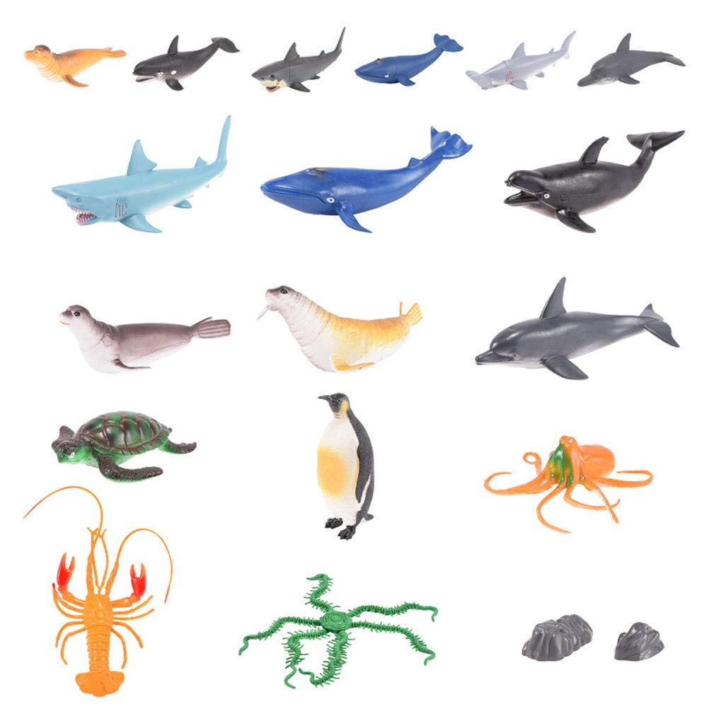Toyvian 1 Satz Meerestiere Abbildung Spielzeug Meer Tierfiguren Realistische Ozean Kreaturen Tierspielzeug Eduactional Spielzeug für Kinder Kleinkind