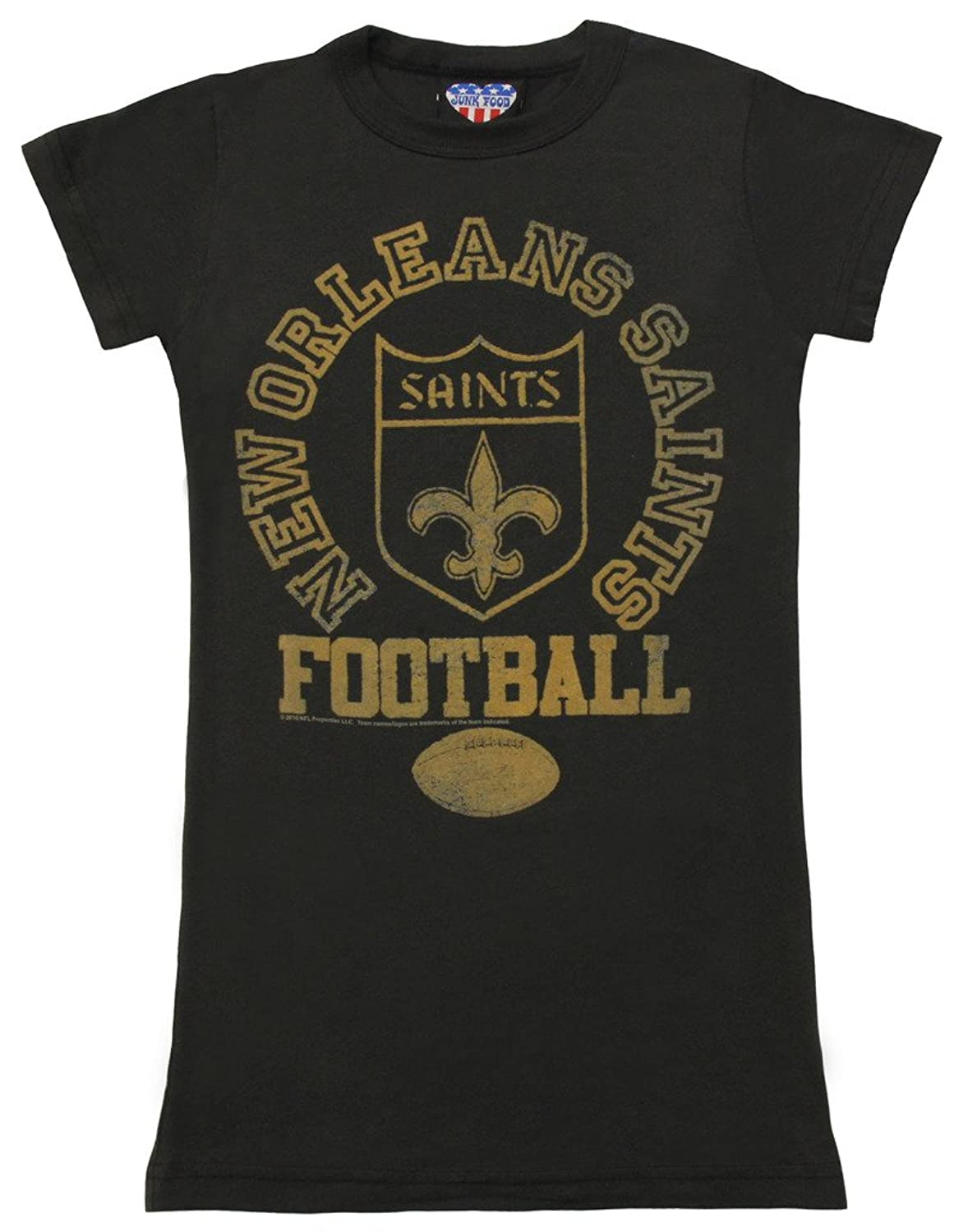 Womens juniors junk food new orleans saints distressed for T shirt printing new orleans