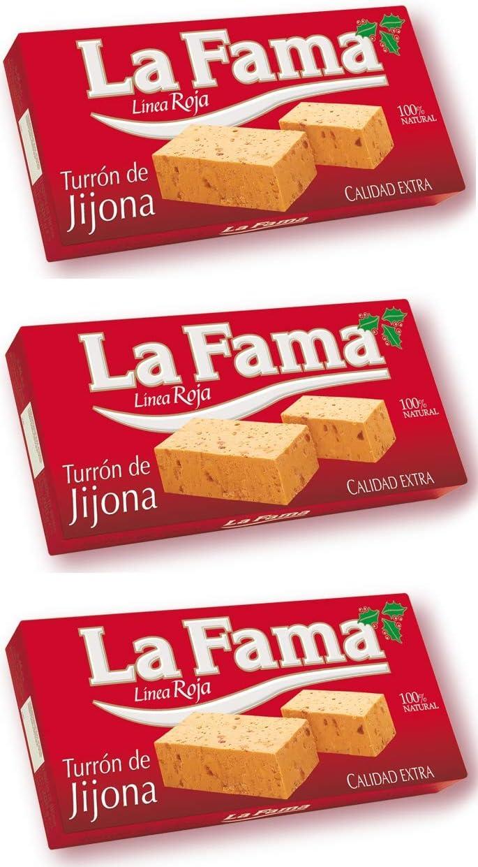 Turrón de blando de Jijona La Fama Línea Roja 150 g.[PACK 3 UNIDADES] TOTAL 450 G.: Amazon.es: Alimentación y bebidas