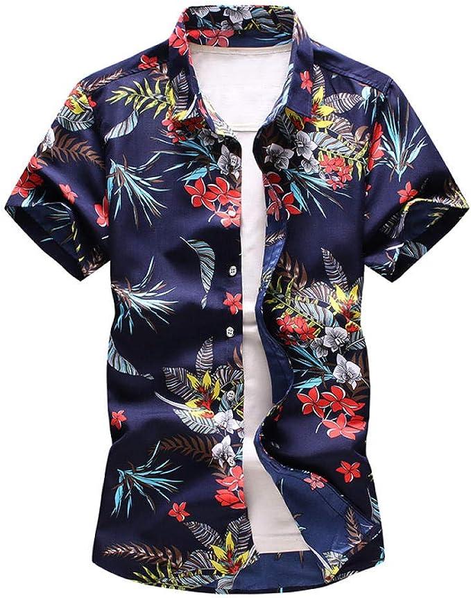 Camisa Hawaiana para Hombre de Talla Grande 5XL 6XL 7XL Camisa de Flores de Manga Corta con Estampado Casual de Verano Ropa Masculina: Amazon.es: Ropa y accesorios