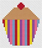 Sew Simple Cupcake Cross Stitch Kit