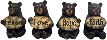 Amazon.com : Home Originality Set of 4 Bears of Grace Figurines ...