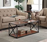 Convenience Concepts Tucson Coffee Table, Cherry Finish