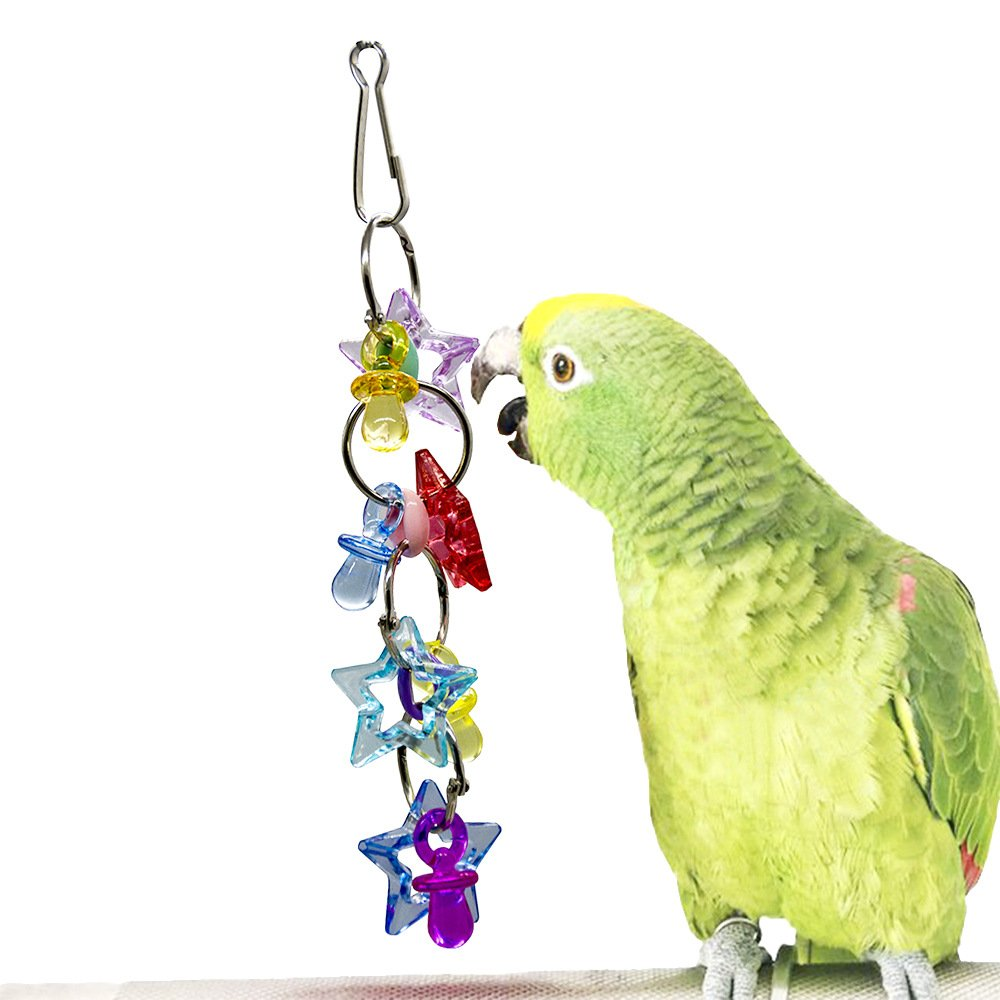 Pet Online Parred bite Toy pet Acrylic Pacifier String Bird Toy