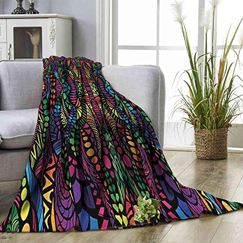 Big datastore Blanket Abstract,Fractal Forms Arrangement Super Soft Lightweight Blanket Size:60