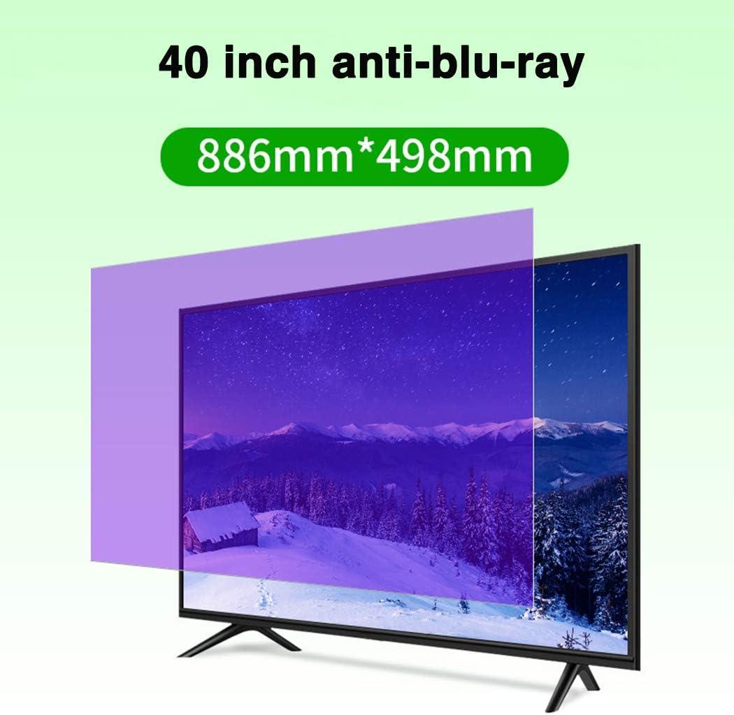 Protector De Pantalla De TV Anti-BLU-Ray De 40 Pulgadas/Película Antiarañazos/Protección contra La Radiación/Anti-UV, para Sharp, Sony, Samsung, Hisense, LG Etc,A: Amazon.es: Hogar