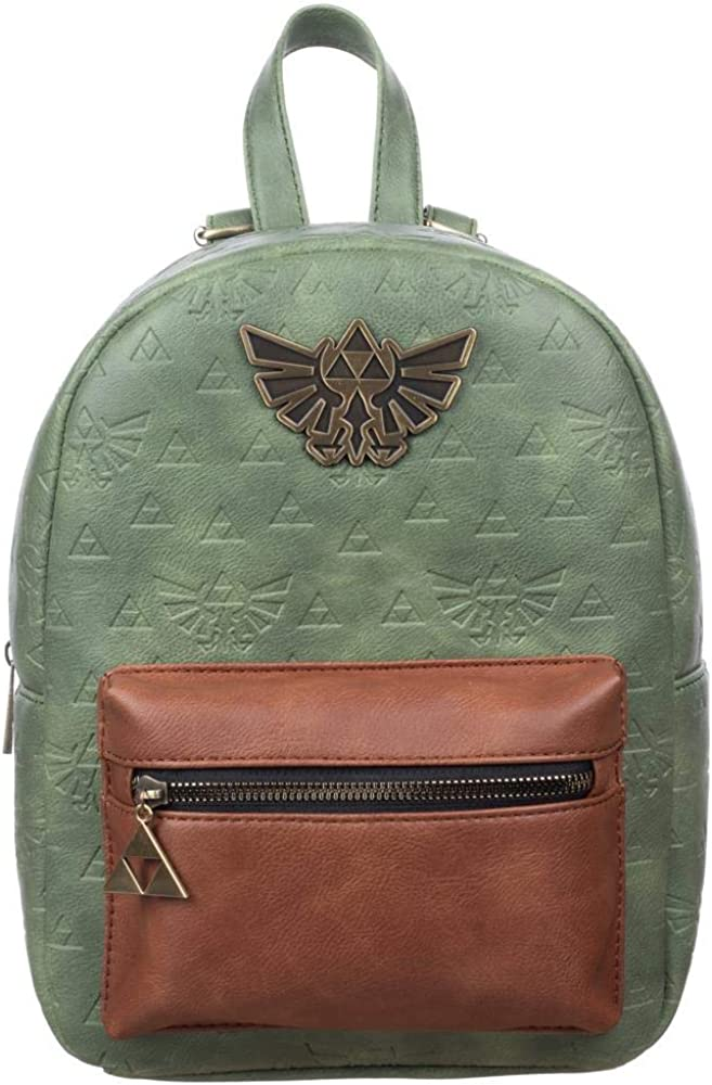 Zelda Video Game Green and Brown Mini Backpack Accessory