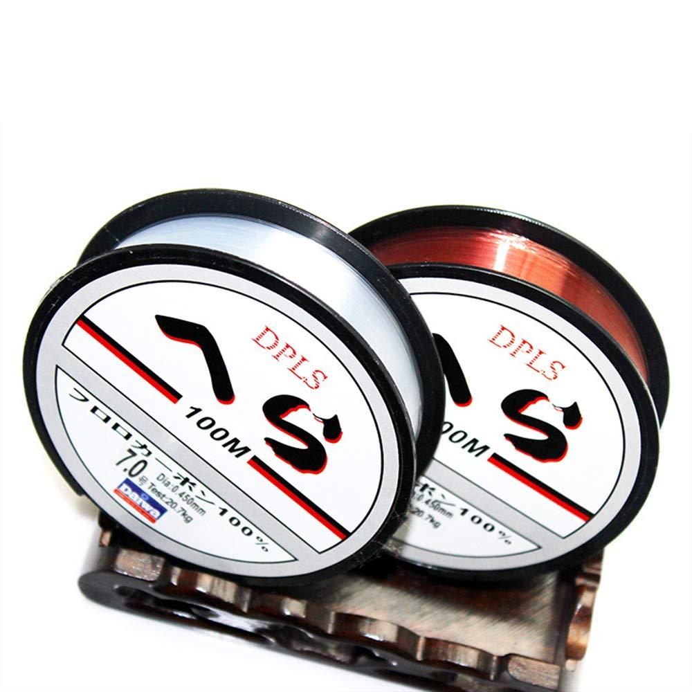 XSM Ligne de p/êche Ligne de Cristal 0.28mm Ligne de p/êche l/ég/ère avec Bobine 100m Mer Ligne de p/êche Accessoires de p/êche pour Le Divertissement en Plein air
