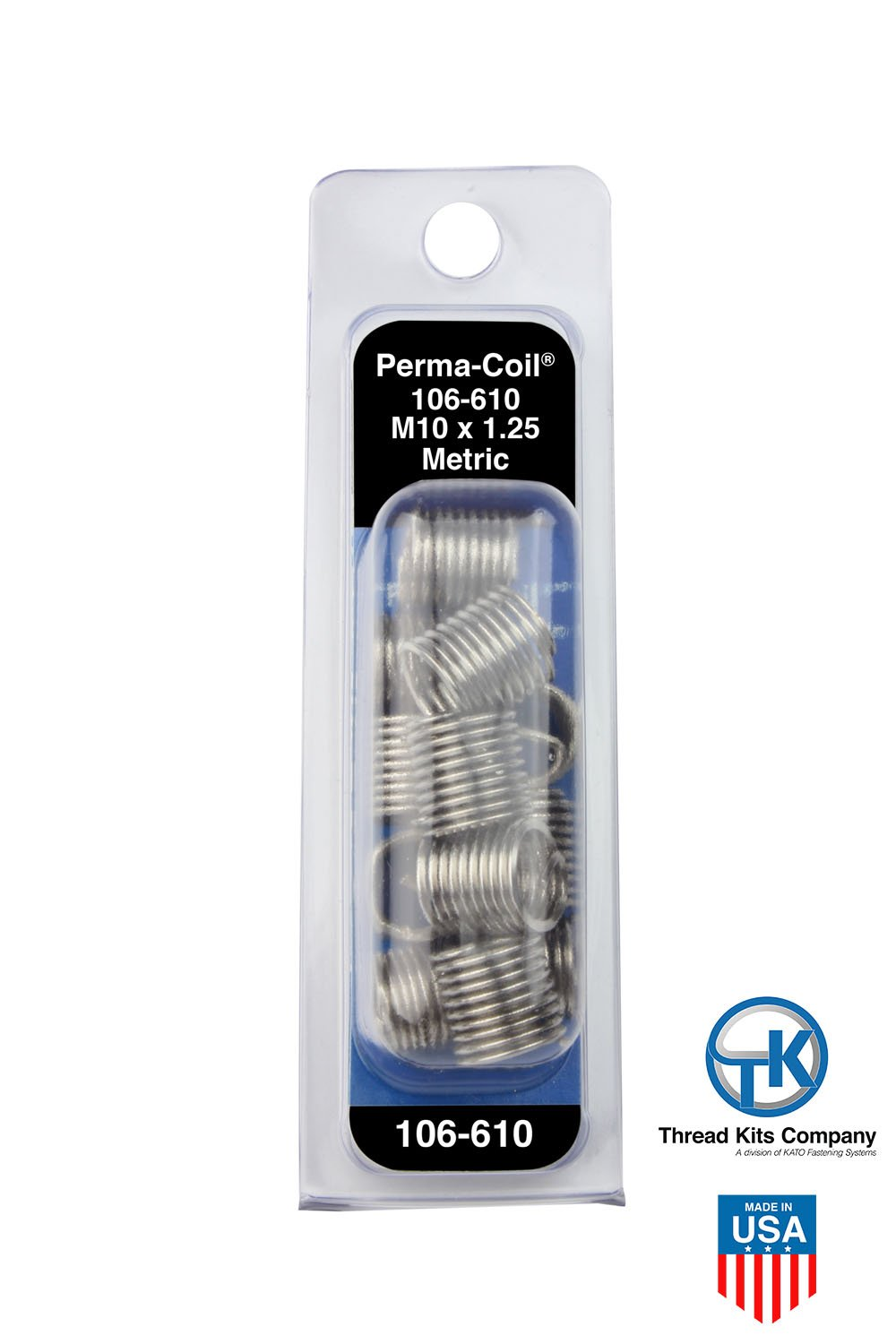 Perma Coil 106-610 Metric Thread Insert Pack M10X1.25 12PC Helicoil 5542-11
