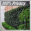 "ColourTree 39"" Tall Artificial Hedges Faux Ivy Leaves Fence Privacy Screen Cover Panels Decorative Trellis - Mesh Backing - 3 Years Full Warranty"