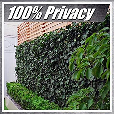 ColourTree 2 FT Tall Artificial Hedges Faux Ivy Leaves Fence Privacy Screen Cover Panels Decorative Trellis - Mesh Backing - 3 Years Full Warranty