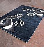 Homemusthaves Super Soft Swirls Floral 3-Dimentional Modern Contemporary Polyester Area Rug Carpet Living Room Bedroom Rug Carpet Floor Hand Carved Rug Carpet (5'3″x7'2″, Dark Blue) Review