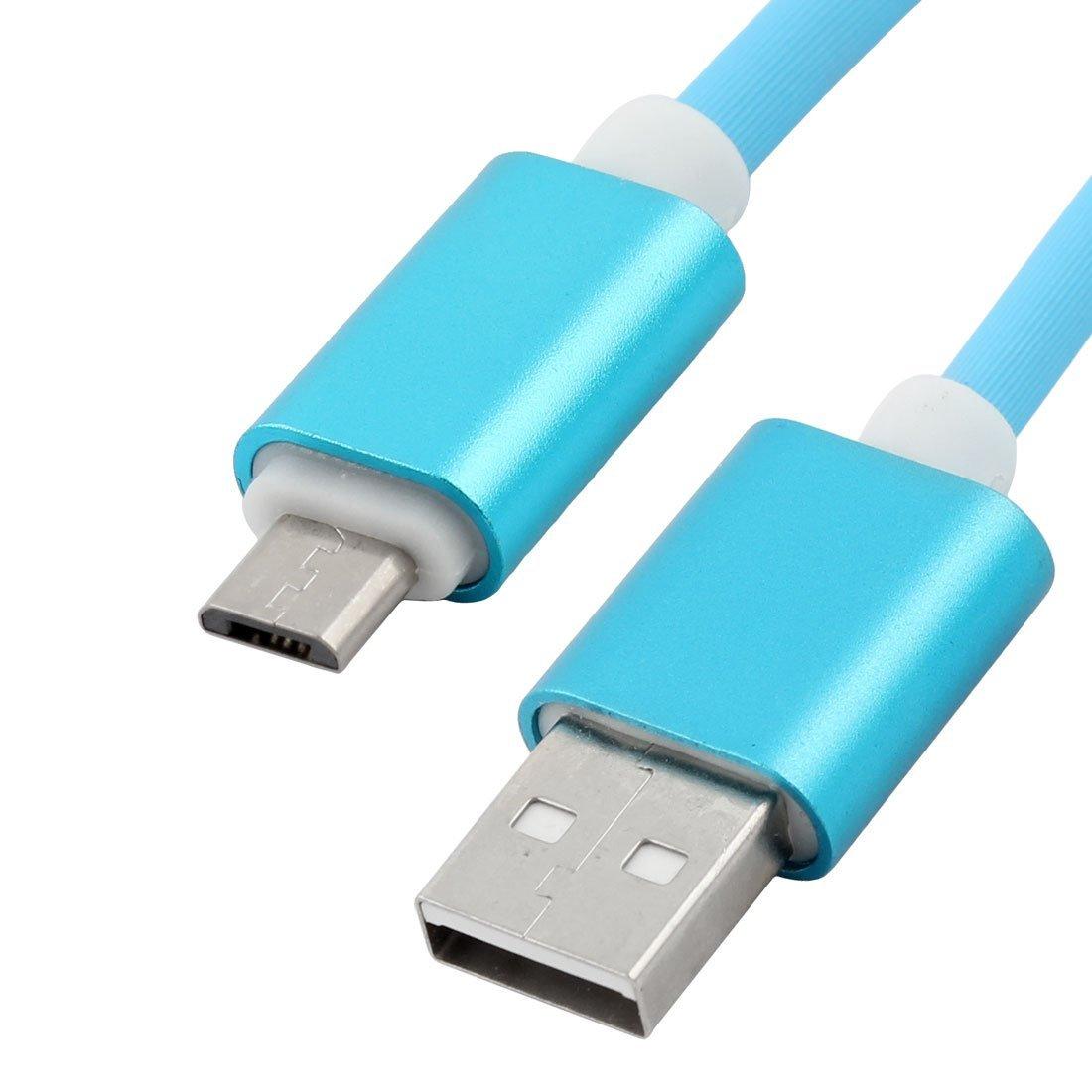 Amazon.com: eDealMax plástico del teléfono celular Micro USB 2.0 Cable de carga Azul Cable Para dispositivo Android: Electronics