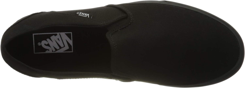 Vans Damen Asher Sneaker Schwarz Canvas Black Black 186