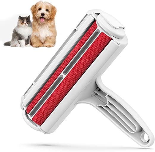 Amazon.com: DELOMO Pet Hair Remover Roller - Dog & Cat Fur Remover with  Self-Cleaning Base - Efficient Animal Hair Removal Tool - Perfect for  Furniture, Couch, Carpet, Car Seat, Red