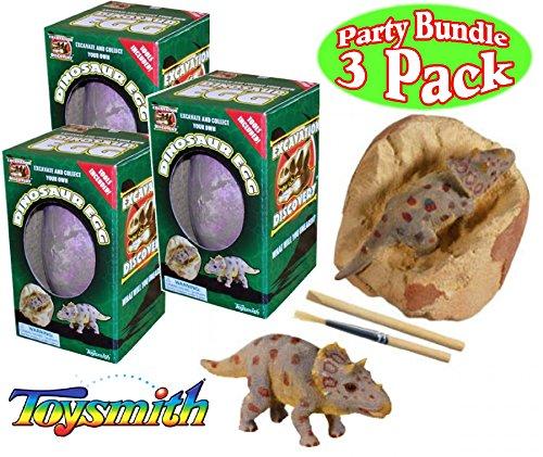 Toysmith Dinosaur Egg Excavation Kit Party Set Bundle - 3 Pack (Assorted) by Toysmith