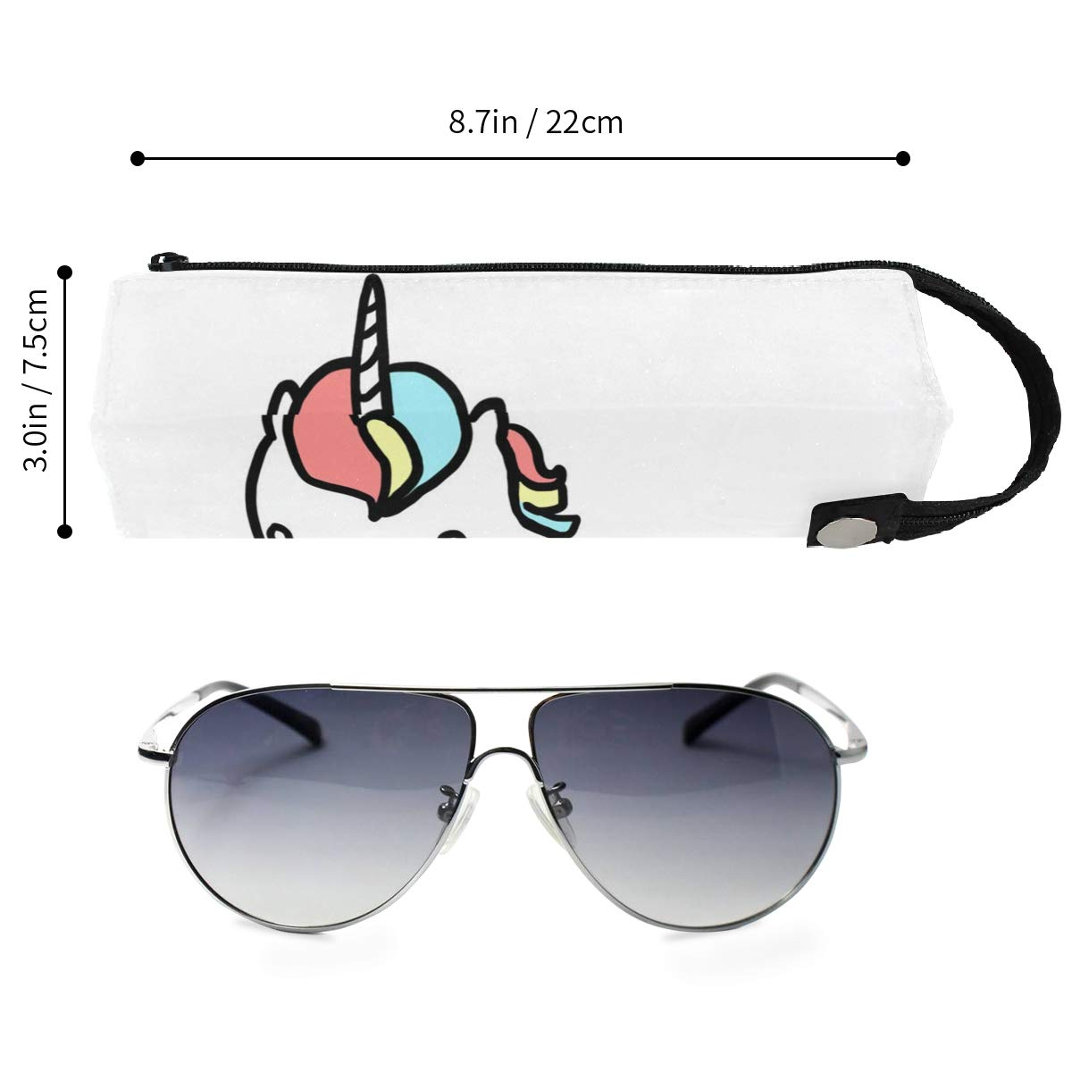Glasses Case Dinosaur Customized Zipper Soft Sunglasses Pen Bag Protective Box