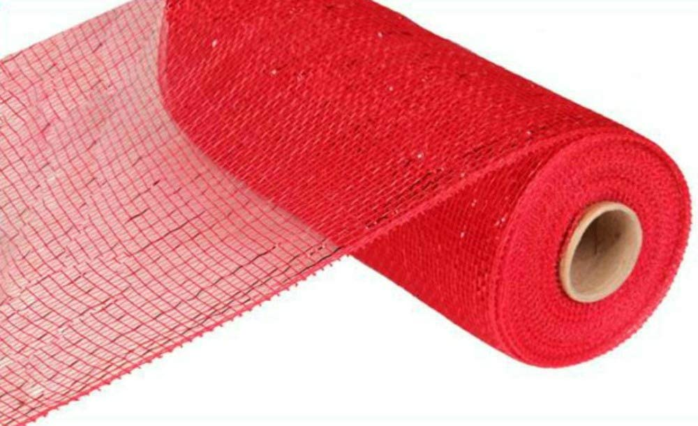 Pink Foil RE130122 10 inch x 30 feet Deco Poly Mesh Ribbon