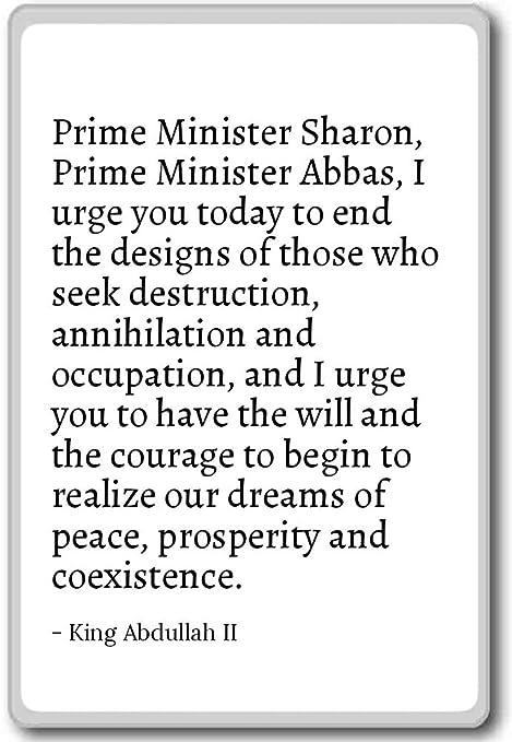 Prime Minister Sharon, Prime Minister Abba    - King Abdullah II
