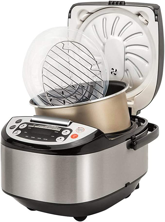 Robot de Cocina Multifunción con Voz, Programable 24 horas, Capacidad de 5 Litros (10 Comensales). 4 Menús Preconfigurados, 8 Programas Automáticos y Calentamiento Envolvente Max. 180ºC: Amazon.es: Hogar