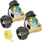 Upgraded Propane Gauge,Level Indicator Propane Cylinder Gauges 3 Colors Coded Universal
