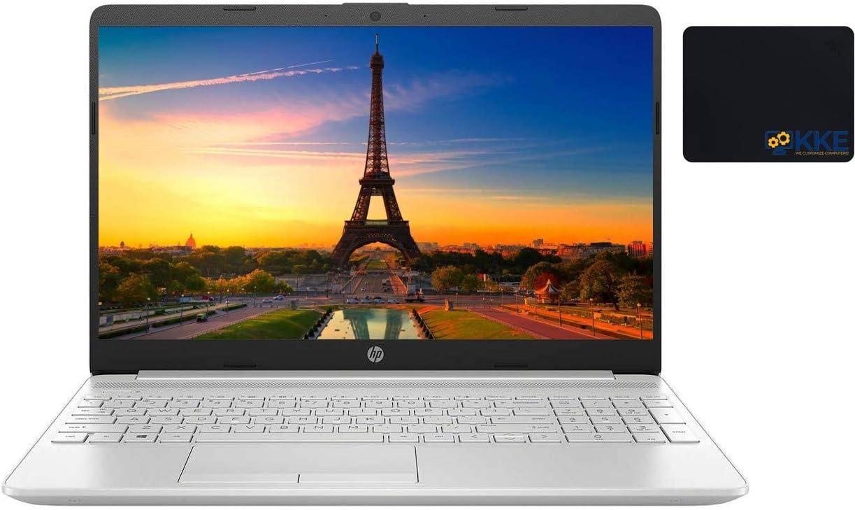 "2021 Newest HP Laptop, 15.6"" HD Touchscreen, 11th Gen Intel Core i3-1115G4 Processor, HDMI, Webcam, Wireless-AC Wi-Fi 5, Bluetooth 4.2, Windows 10 Home, KKE Mousepad, Silver (12GB RAM | 512GB SSD)"