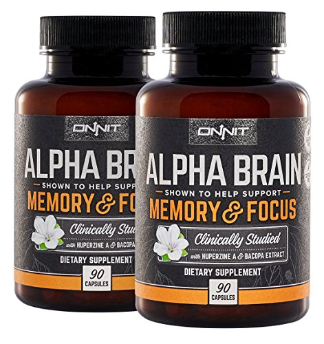 Onnit Alpha Brain (180ct): Nootropic Brain Booster Supplement for...