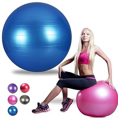 Grofitness 94cm Yoga Boule Boule d'exercice anticrevaison Pilates d'entraînement bodybuilding Balle d'équilibre