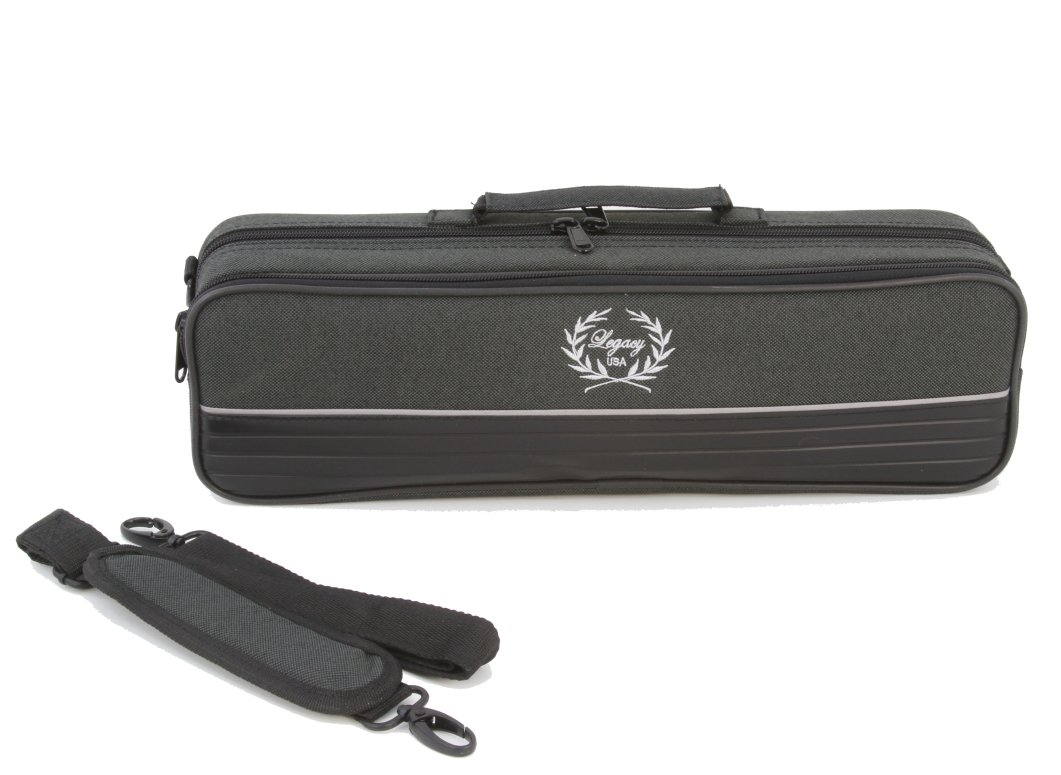 Legacy Deluxe Flute Case, Hardshell Canvas with Zippered Closure and Carry Straps