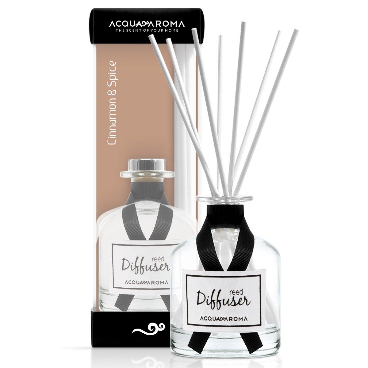 Acqua Aroma Everyday Collection Cinnamon & Spice Reed Diffuser 8.1 FL OZ (240ml) by Acqua Aroma (Image #1)