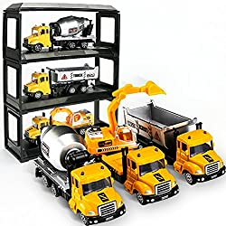 preliked 1:64 Alloy Car Engineering Truck Model Excavators Cement Concrete Mixer Dumpers Diecasts Toy from preliked