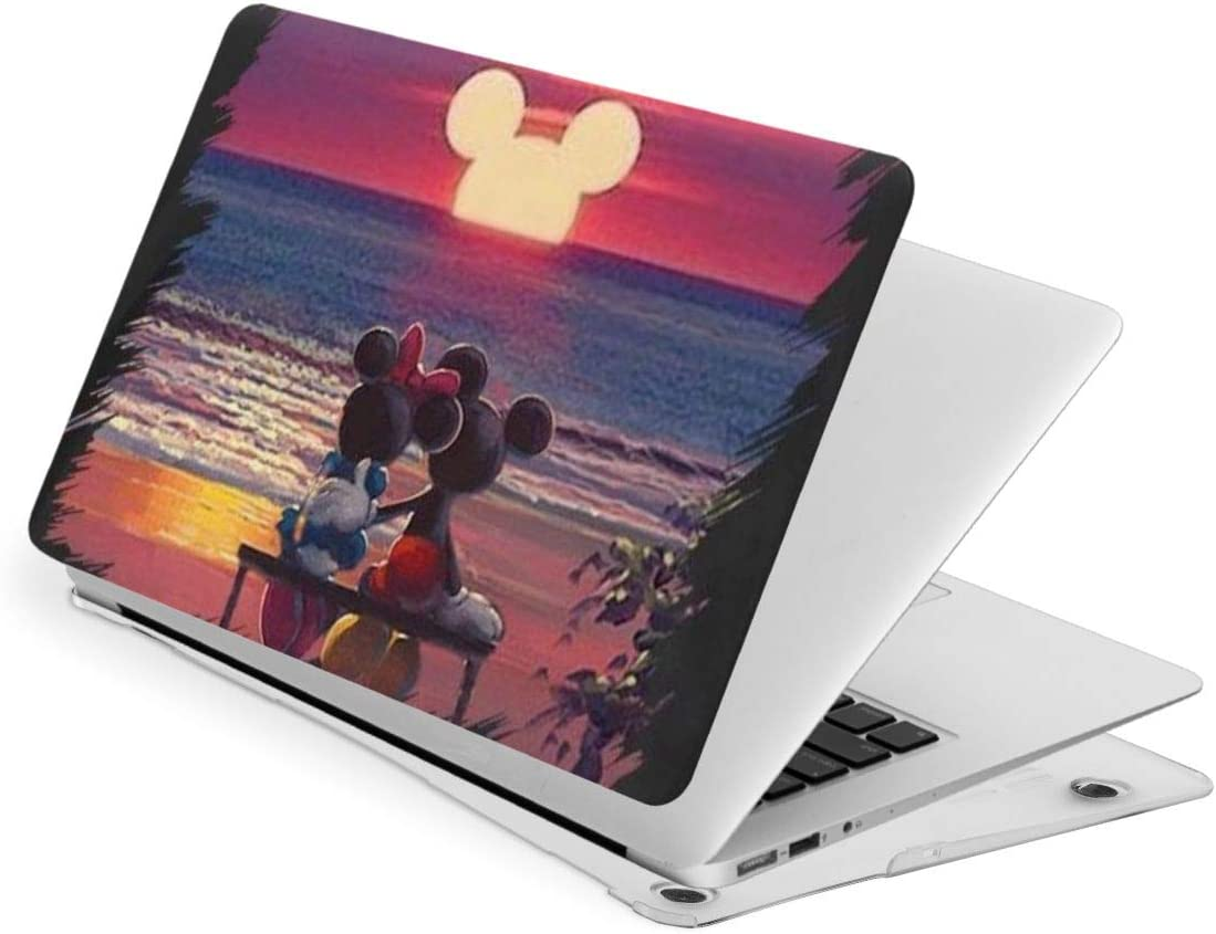 Laptop Hard Shell Case for MacBook Air 13 Mickey Mouse and Minnie Mouse Sunset Cover with Hard Shell Case + Cleaning Brush,Laptop Case A Variety of Models