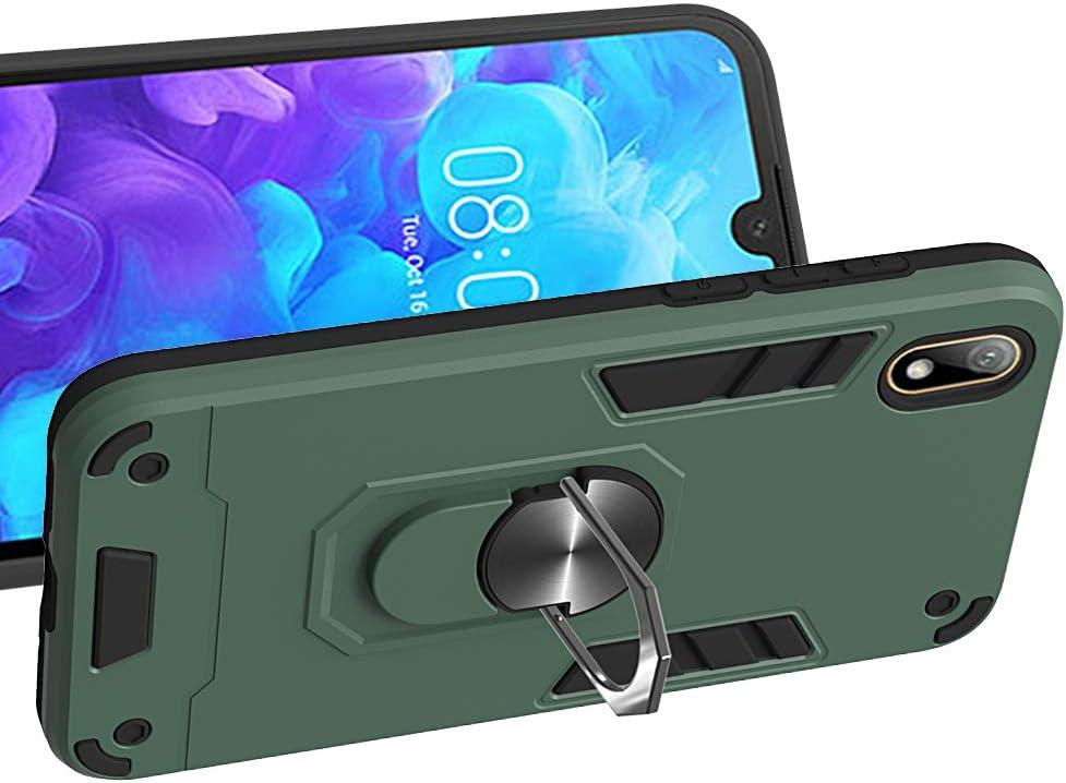 PC 2019 TPU R/üstung Defender Ganzk/örperschutz Hard Bumper Silikon Handyh/ülle stossfest Schutzh/ülle Case (Schwarz) mit Standfunktion H/ülle f/ür Huawei Y5