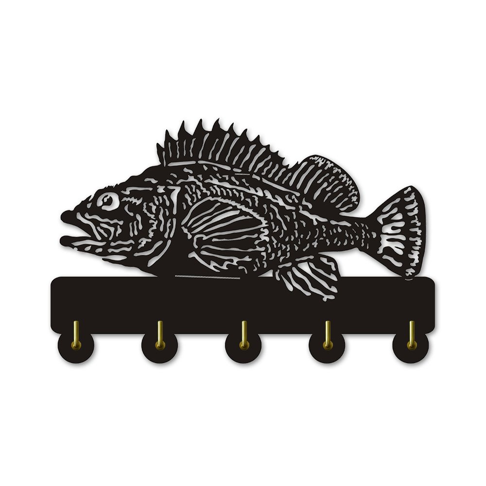 Rock Fish Shape Design Sea Animals Creative Wall Decor Art Wall Hooks Clothes Coat Towel Hooks Keys Holder Bathroom Kitchen Hanger Decor Hooks by The Geeky Days (Image #8)