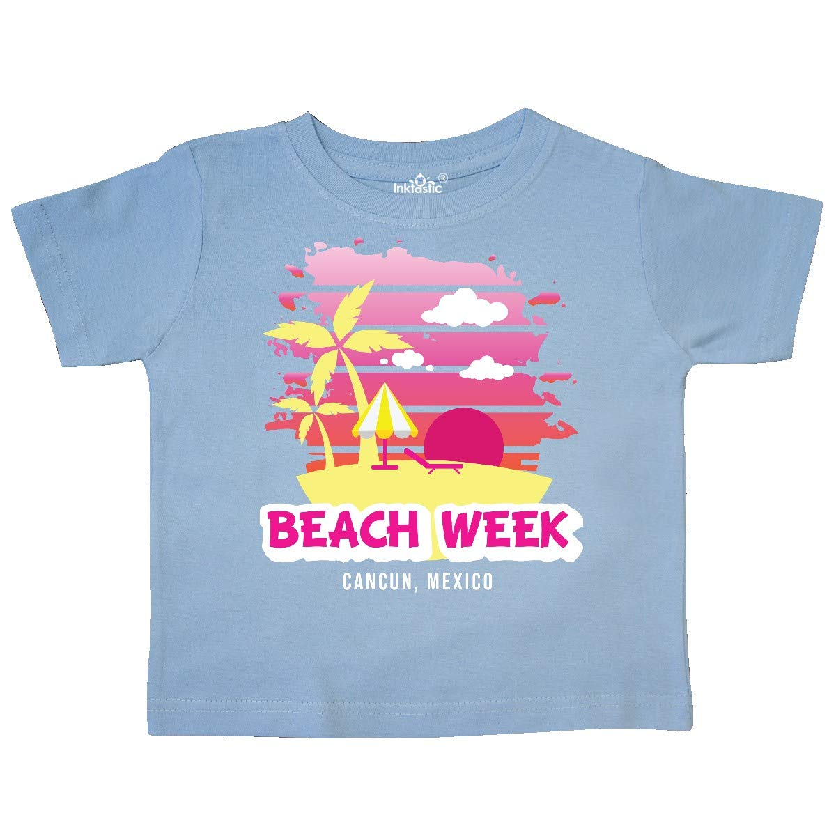 inktastic Beach Week Cancun Mexico with Palm Trees Toddler T-Shirt