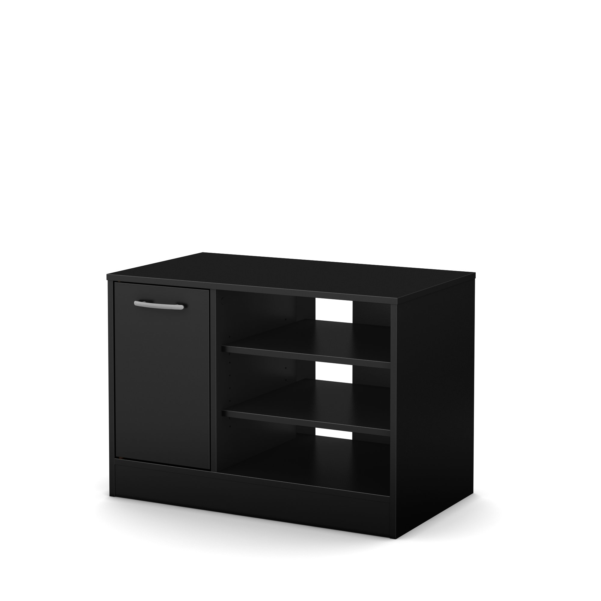 South Shore Axess TV Stand - Fits TVs Up to 42'' Wide - Pure Black
