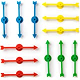 Brybelly 12 Assorted Rainbow 4-inch Arrow Game Spinners in 4 Colors, 3 Arrows Per Color