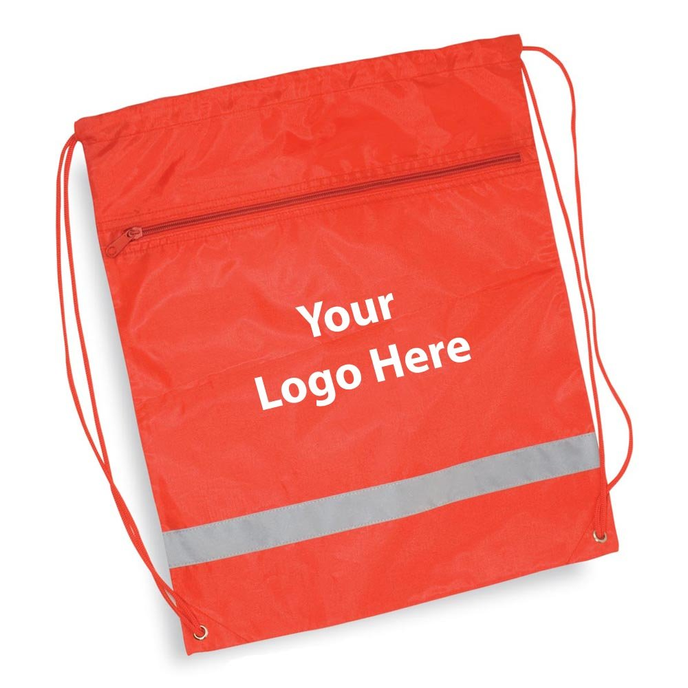 Zippered String A Sling Backpack - 100 Quantity - $3.35 Each - PROMOTIONAL PRODUCT / BULK / Branded with YOUR LOGO / CUSTOMIZED