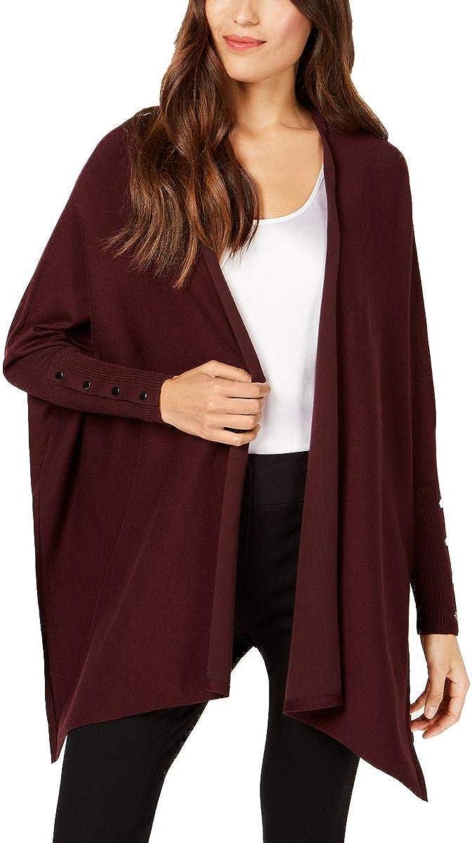 Alfani Womens Handkerchief Hem Open Front Cardigan Top