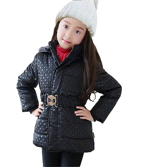 388c72e0c NABER Kids Girls  Polka Dots Zipper Cotton Padded Jacket Coat with ...