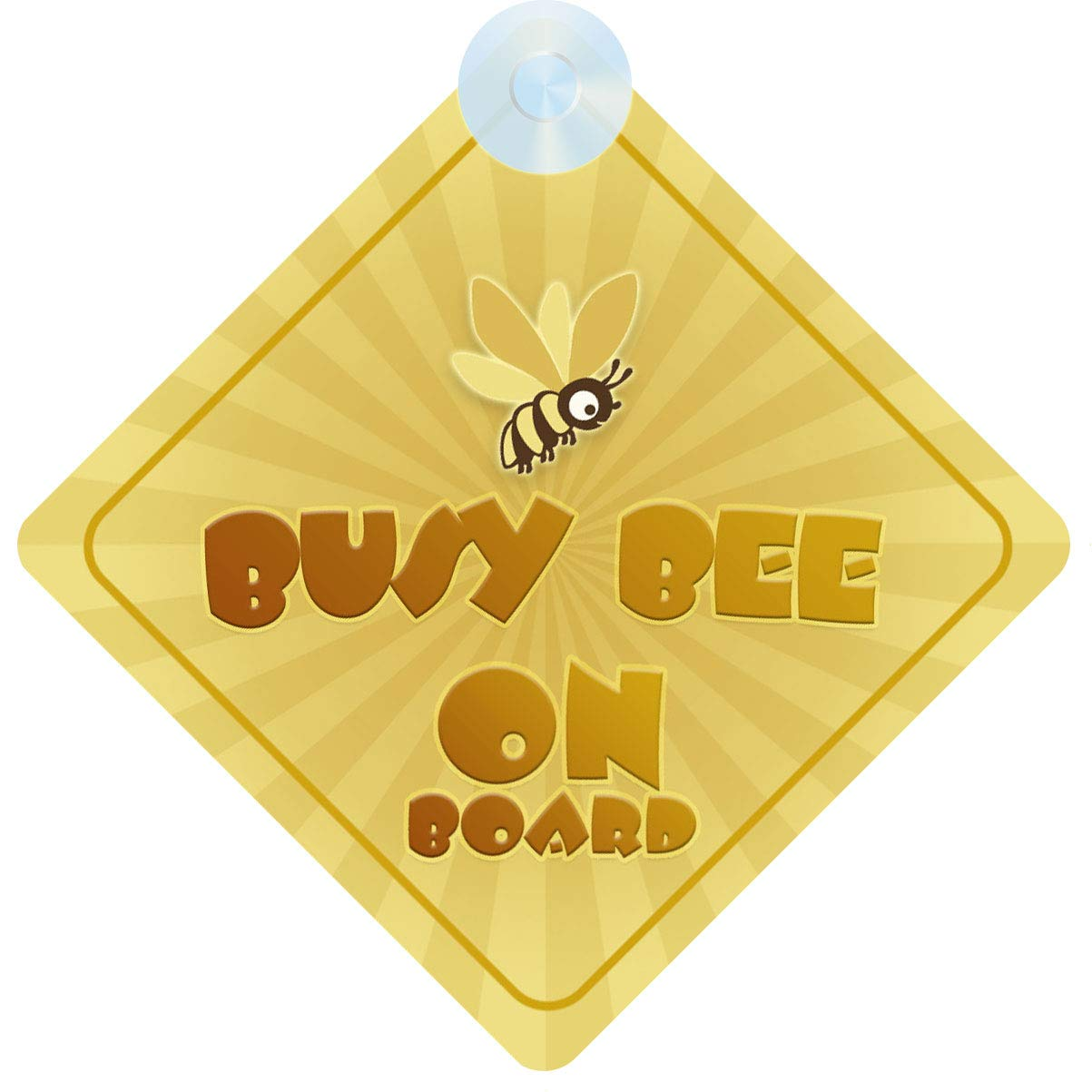Busy Bee on Board Car Sign for Children//Baby Boys and Girls Non Personalised Character Theme