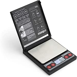 Truweigh - NOTE Digital Mini Scale - (100g x 0.01g - Black) and Long Lasting Portable Grams Scale - Kitchen Scale - Food Scale - Postal Scale - Herb Scale - Pocket Scale - Small Scale