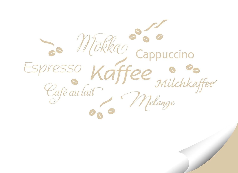 Grandora Wandtattoo Kaffee Coffee Kaffeetasse I beige I Küche ...